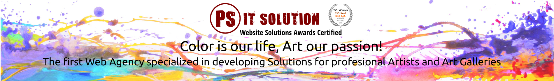 Best Web Agency for Artist's Website specialized in developing solution for Artists and Art Galleries